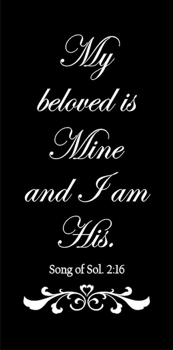 My Beloved Is Mine Diy Stencil For Personalizing Wedding Aisle Runners, Signs, Walls, Fabric, Ww931