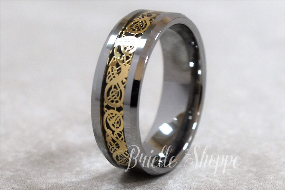 Tungsten Ring, Celtic Band, Wedding Personalized Ring