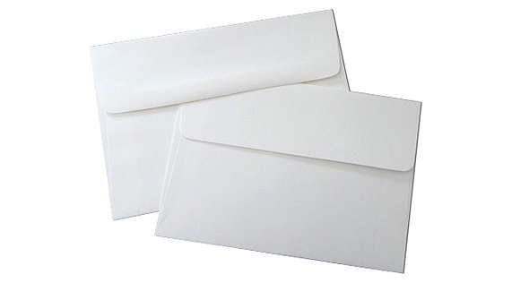 Double Wedding Envelope Sets For 5x7 Or A7 Cards - White Outer & Inner Envelopes 25 Pack