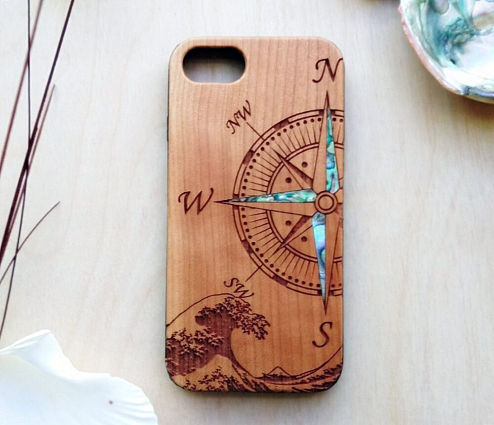 Compass Design Phone Case Engraved Personalized Christmas Gift For Boyfriend, Iphone 11 12 Pro Max, 8 Plus, Xr, Xs Max, Samsung S20 Note 20