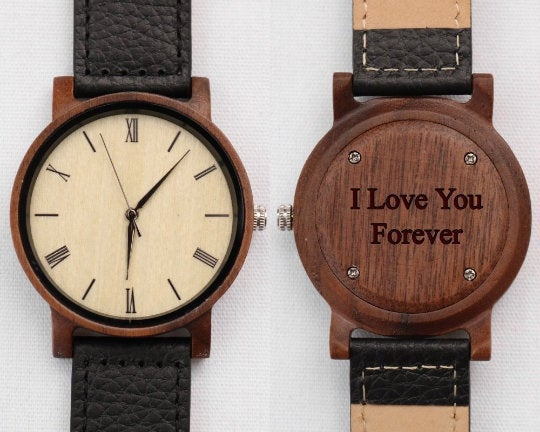 Watch Gift, Grooms Wedding Day Gift Husband, Groom From Bride Watch, For On Day, Wooden