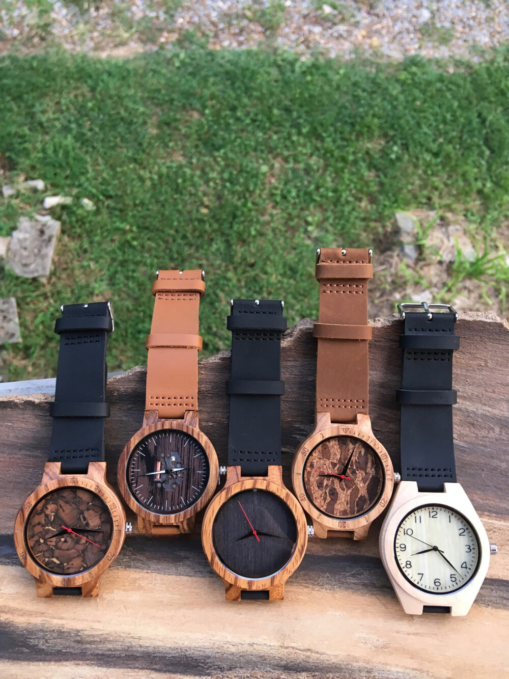 Personalized Wood Watch For Groom Groomsmen Party, Name Or Text Engraving, Leather Band, Wedding, Bridal, Birthday, Grooms Gift Christmas