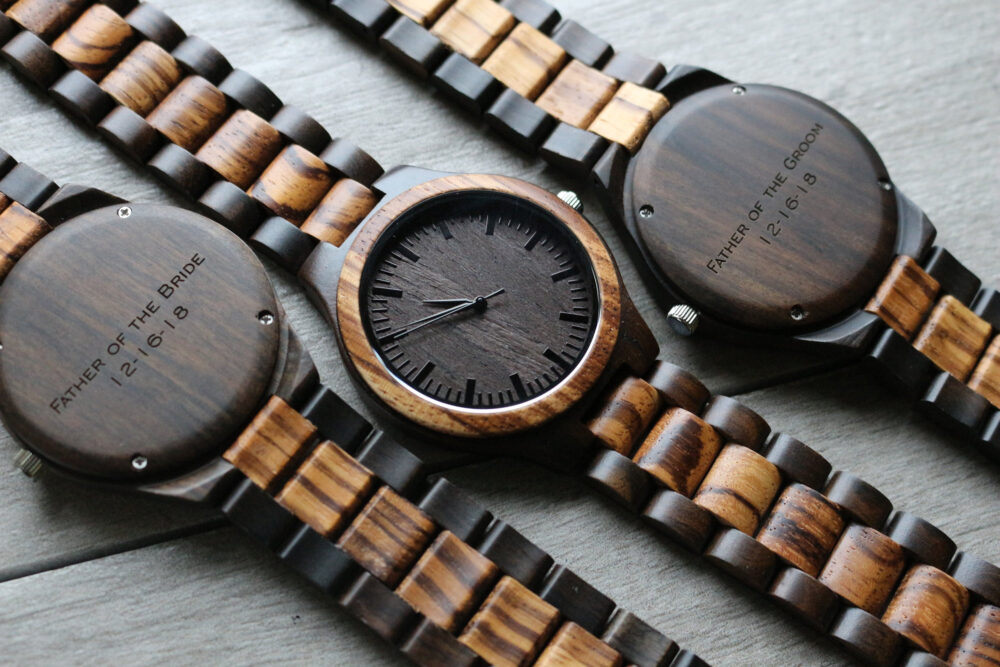 Best Groomsmen Gifts, Set Of 7, Gift For Groom, Mens Wood Watch, Personalized Wedding Gifts Men, Wooden Watches