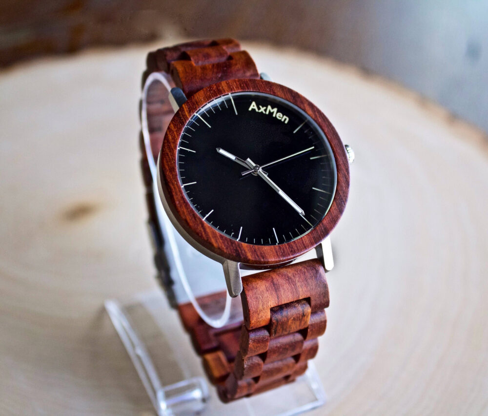 Mens Wood Watch, Wooden Gift For Him, Anniversary Gift, Wedding Groomsmen Groom