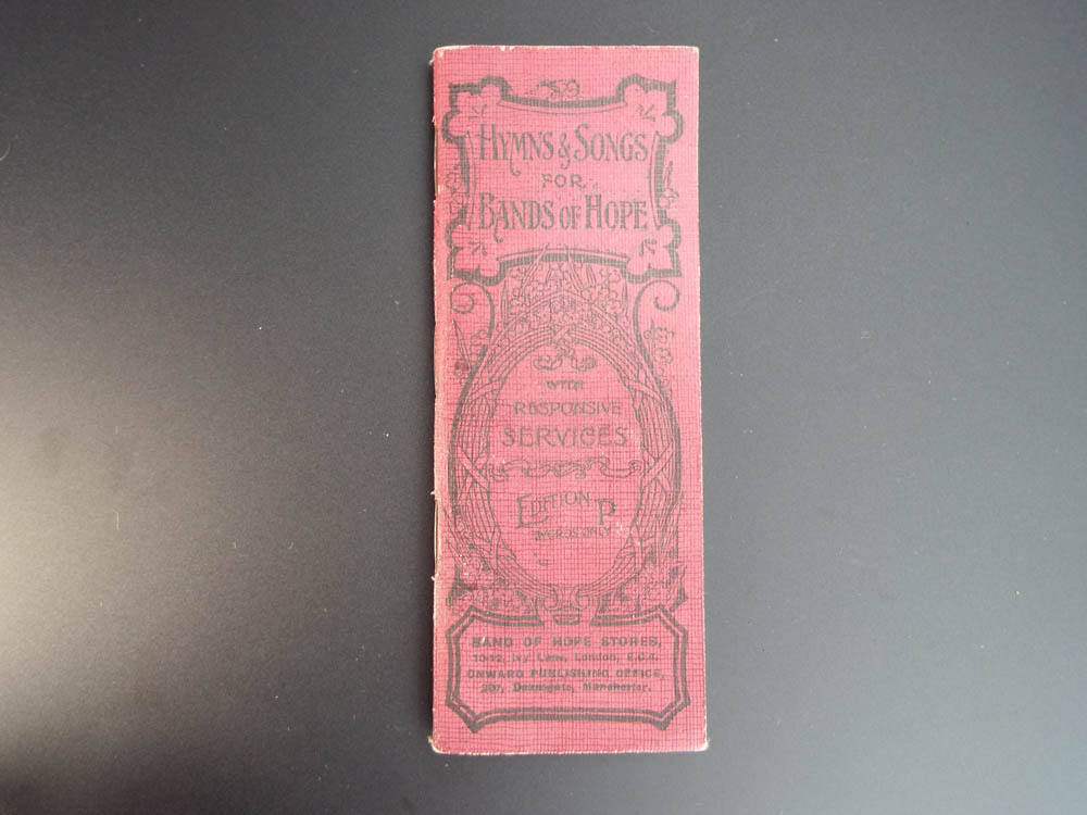 Antique Religious Temperance British Band Of Hope Hymn Song Book Booklet 1910