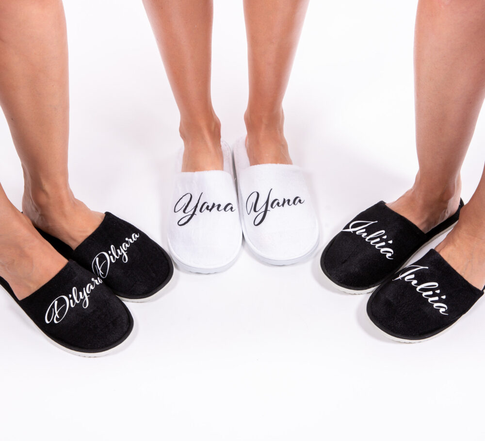 50% Off Custom Spa Slippers, Bridal Party Bridesmaid Gifts, Slipper, Wedding Party