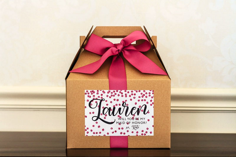 Bridesmaid Proposal Box - Maid Of Honor Bridal Party Gift Will You Be My Wedding