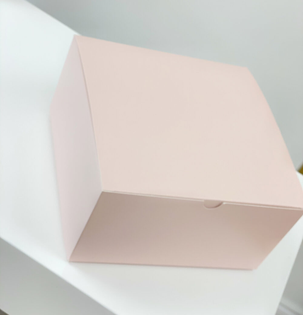 Blank Pink Boxes - Blush Gift Bridesmaid Proposal Box - Large Wedding Favor Bulk 8x8x4 Inch