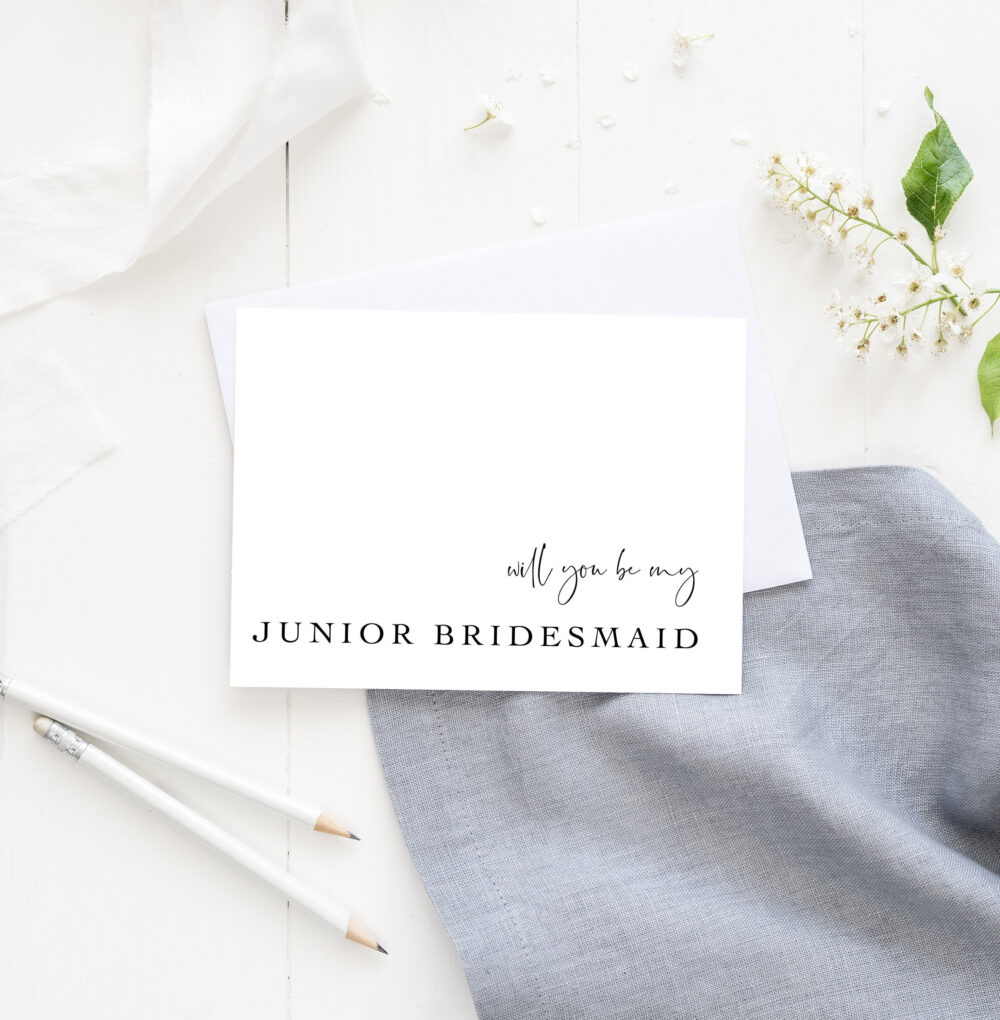 Simple Junior Bridesmaid Proposal Cards, Will You Be My Bridesmaid, Wedding Day Proposal, Maid Of Honor