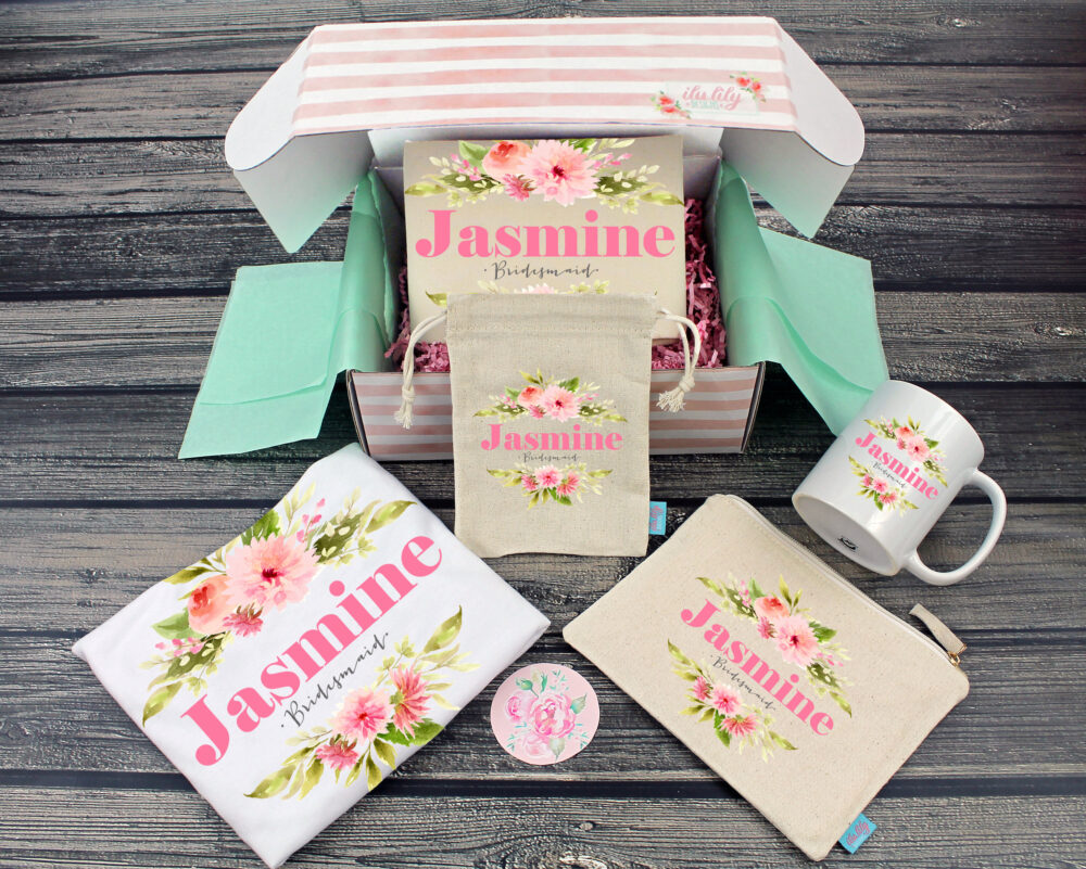 Bridesmaid Proposal Box - Personalized Gift - Will You Be My Maid Of Honor Ideas- Modern