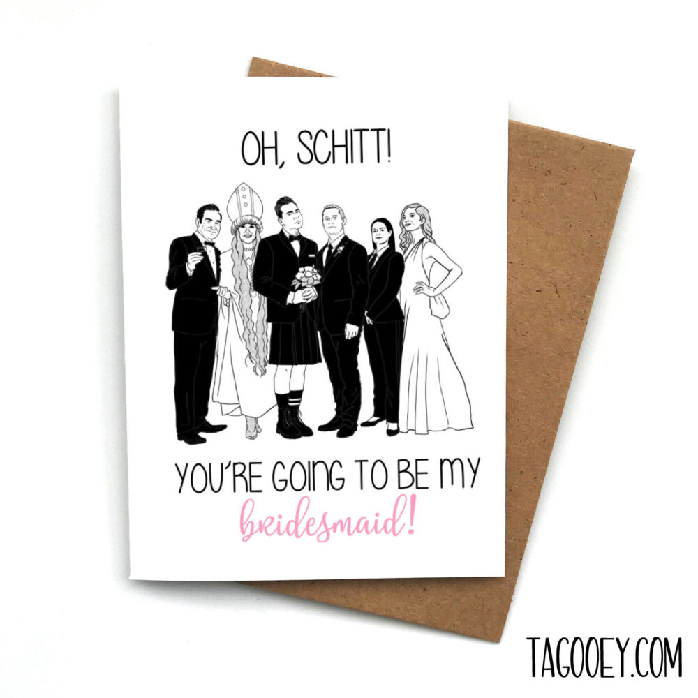 Bridesmaid Proposal Card Oh Schitt, Maid Of Honor, Will You Be My Bridesmaid, Honor Proposal, Schitt's Creek Wedding