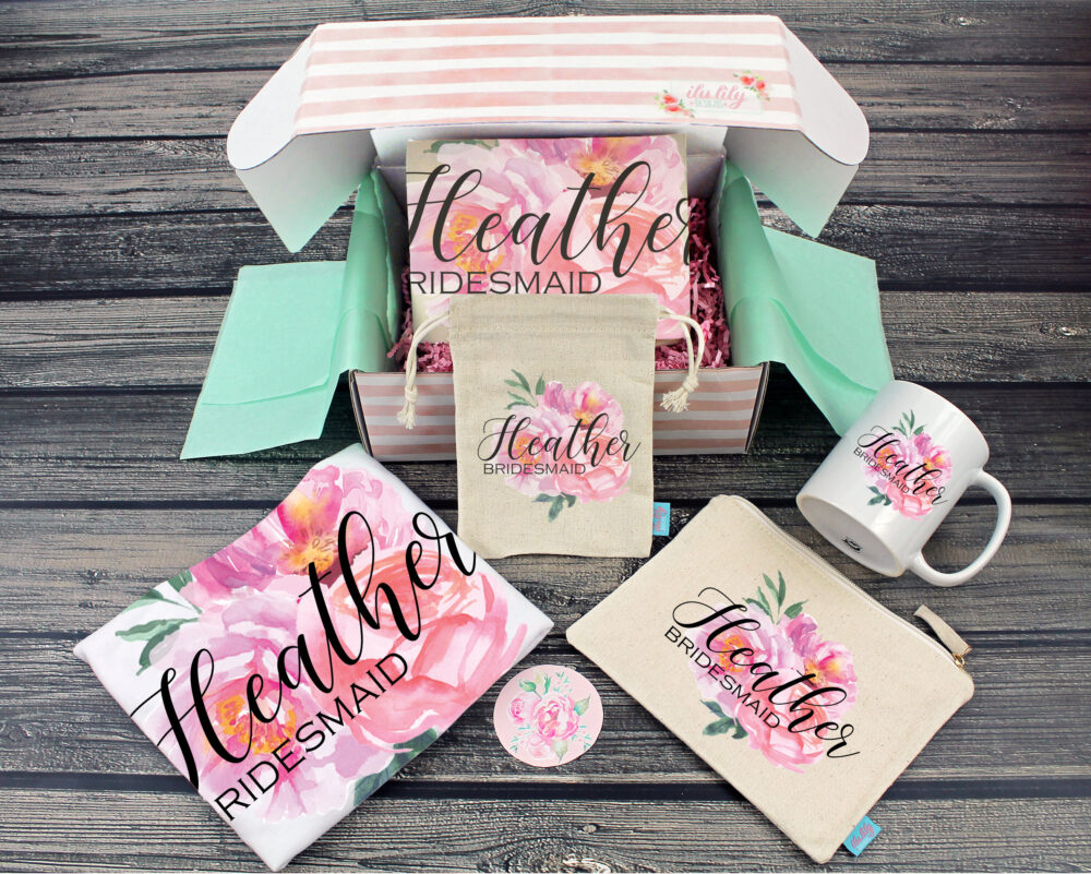 Bridesmaid Proposal Box - Personalized Gift - Will You Be My Maid Of Honor Ideas- Floral