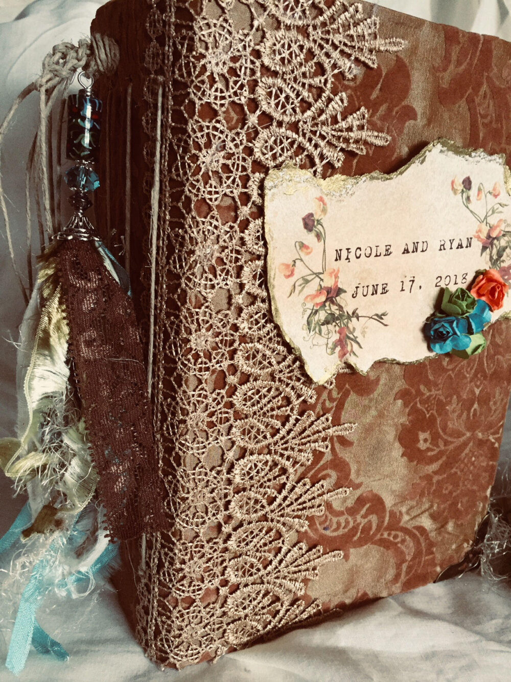 Bohemian Wedding Sign in Guest Book One Of A Kind