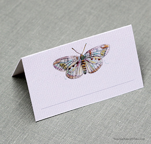 Butterfly Place Card Boho Design