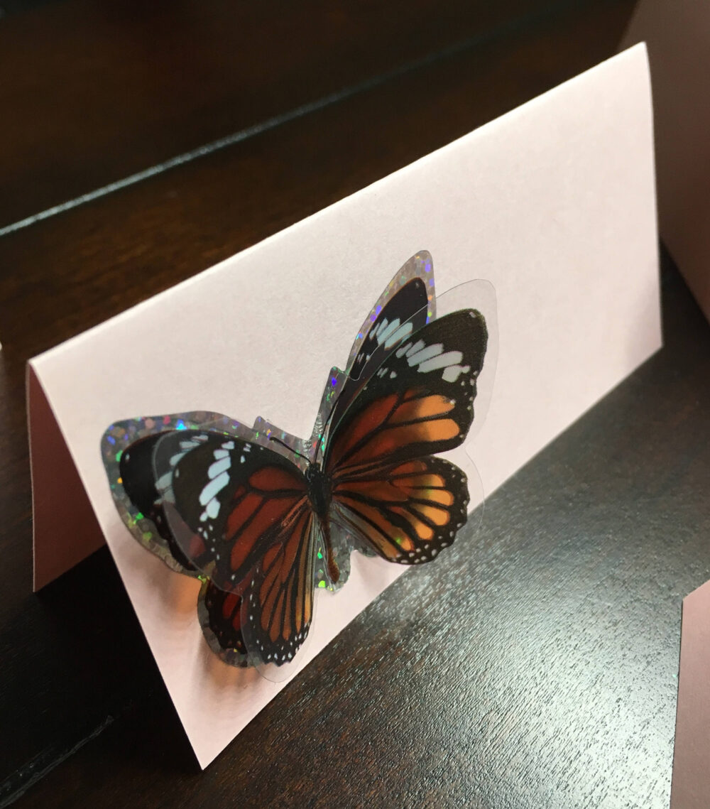 Monarch Butterfly Place Cards, Classic Butterflies Placecards, Butterfly Bridal Baby Shower, Food Tents Labels-9/Order