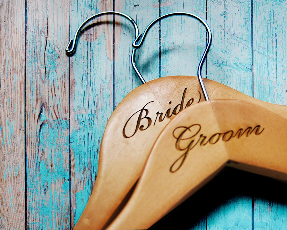 Personalized Hangers For Wedding | Custom Groomsman Groom Suit Hanger |Personalized Bride