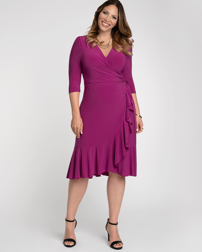 Kiyonna Womens Plus Size Whimsy Wrap Dress - Sale!