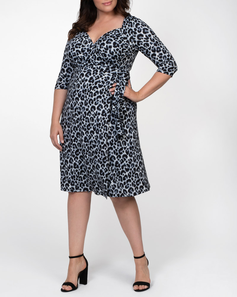 Kiyonna Womens Plus Size Sweetheart Knit Wrap Dress - Sale!
