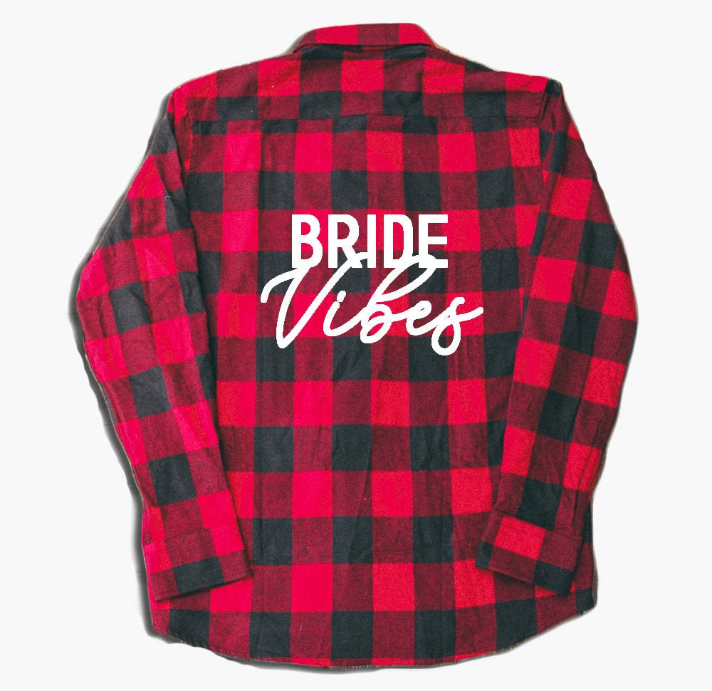 Bride Vibes, Wedding Flannel, Bridesmaid Proposal, Gifts, Flannels For Bridesmaids, Red Flannel Shirt, Custom