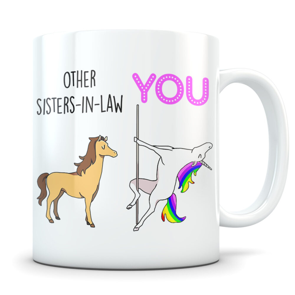 Sister-In-Law Gifts, Funny Sister-In-Law Gift, Mug, Coffee Gift Idea, Sister in Law Unicorn