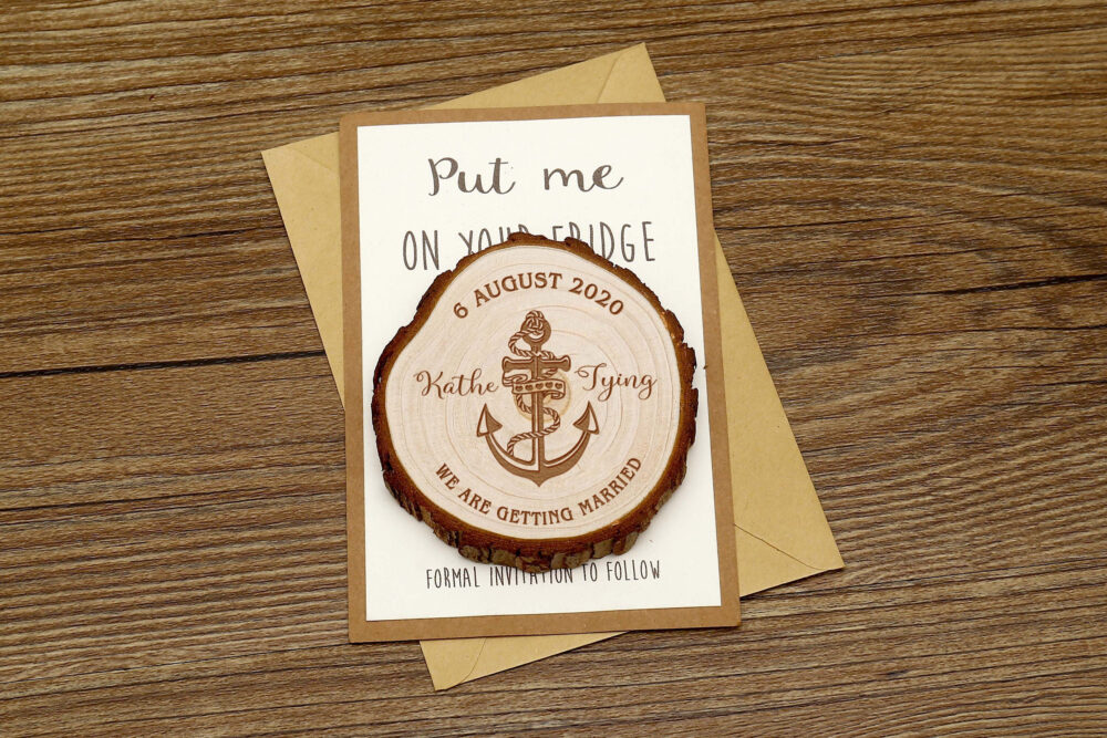 Adventure Wood Save The Date Magnets, Wedding Save Date, Personalized Wedding Favors, Rustic Wedding Wooden Slice, Wedding Gifts For Guests