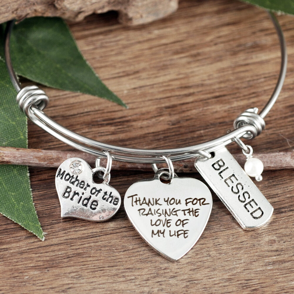 Mother in Law Gift, Of The Bride Thank You For Raising The Love My Life, Man Dreams, Bracelet For Mil, Wedding Gift