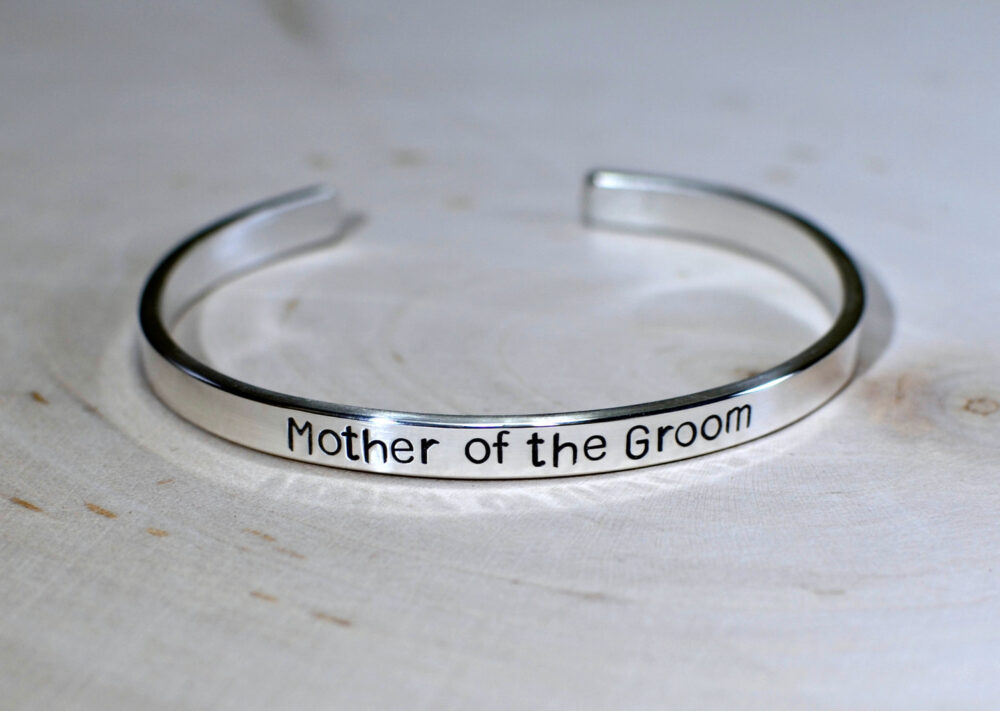 Mother Of The Groom Sterling Silver Wedding Cuff Bracelet - Solid 925 Br519
