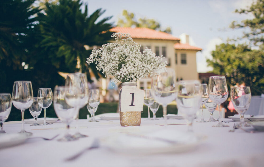 Natural Burlap Wedding Table Numbers