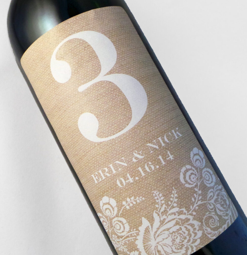 Wine Label Table Numbers..choose Your Colors... Floral On Burlap