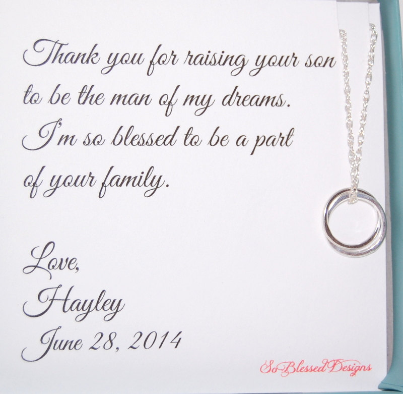 Mother Of Groom, Eternity Necklace, The Bride, Thank You For Raising Man My Dreams, Inseparable Groom Card