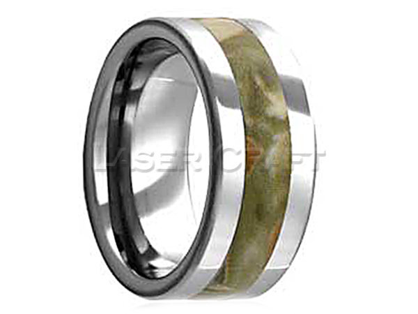 Personalized Engraved Titanium Wedding Band Flat Camouflage 8mm | Free Laser Engraving