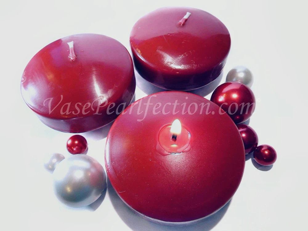 "3.25"" Floating Candles. Set Of 3 - Unscented Vase Decorations & Event Centerpieces"