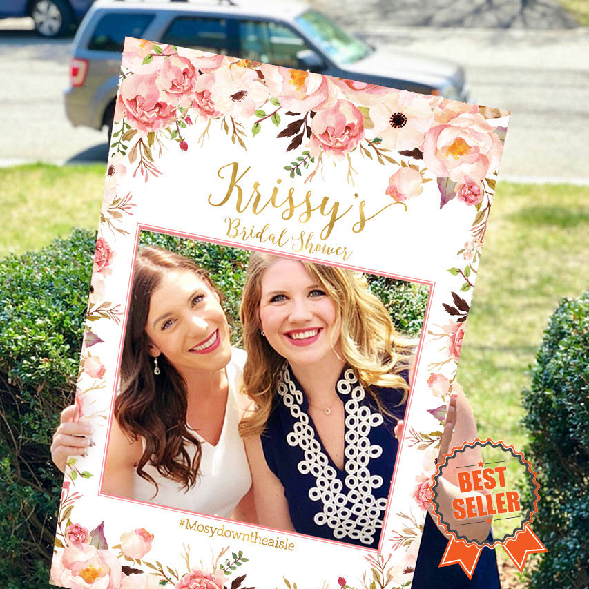 Bridal Shower Photo Prop, Wedding Photo Props, Shower Booth Frame, Printable Prop File