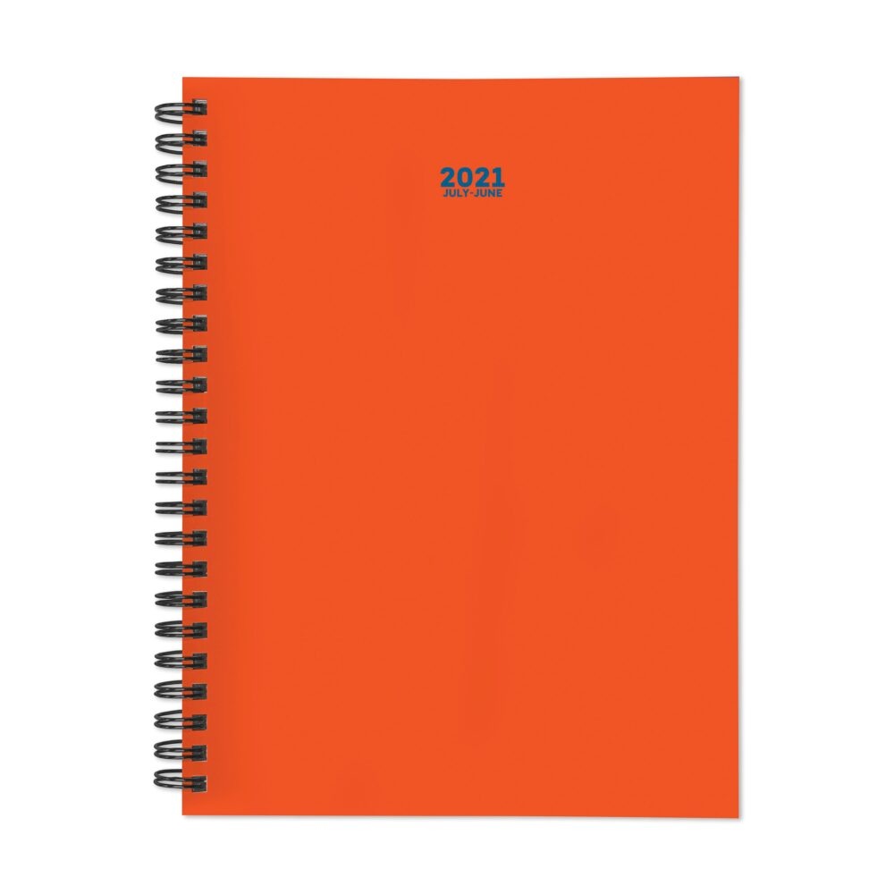 July 2020 - June 2021 Orange You Glad Medium Daily Weekly Monthly Spiral Planner With Stickers- 6x8