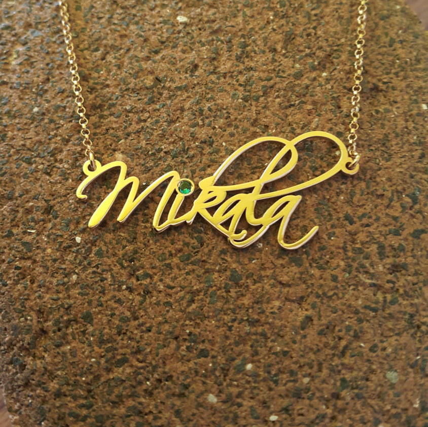 My Name Necklace/ Order Any Name/ Signature Name Necklace/Scriptina /Necklace With My Name/ 18K Gold Plated Pendant
