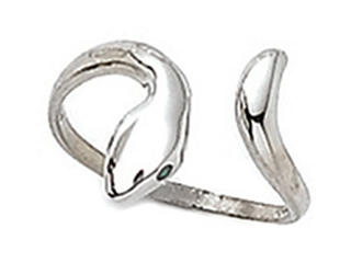 Sterling Silver Toe Ring Bypass Snake