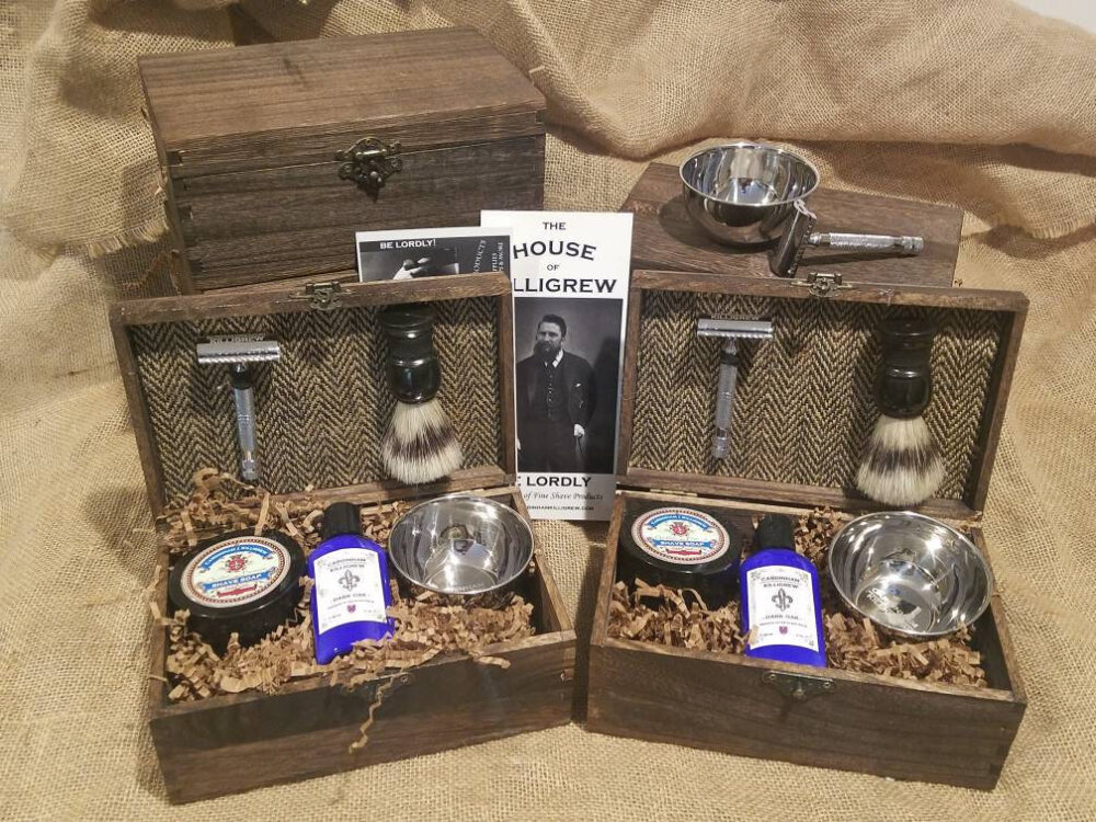 Set Of 7 - Shave Kits Barn Wedding Favors Groomsmen Gifts For Rustic Ombre Wedding Favor Fall Summer-Best Man Gift Ideas