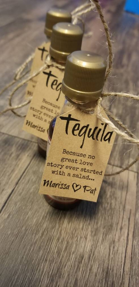 """30 """"Because No Great Love Story Started With A Salad"""" Diy Wedding Favor Kits Wedding Favors. Favor Tags. Personalized Rustic"""