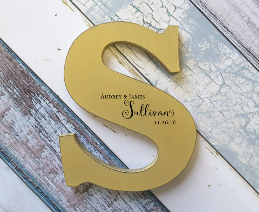 Custom Cut Out Letter Large, Wedding Board, Personalised Guest Book Alternative