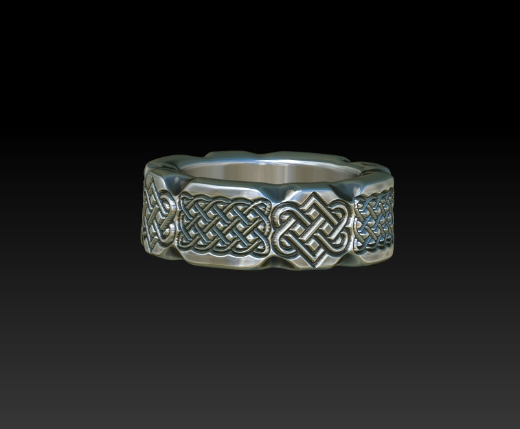 Celtic Irish Scottish Wedding Silver Ring Band Men Women Celtic Jewelry Zb21