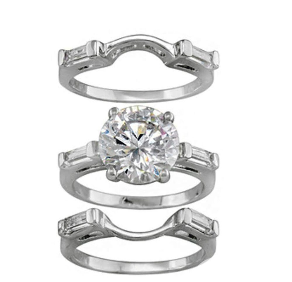 Alisha 3 Ring Bridal Set Engagement Wedding Band Ginger Lyne Collection