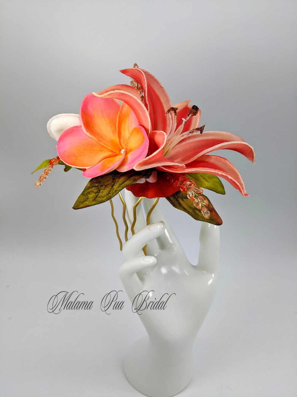 Wedding Headpiece, Hair Accessory, Tropical Hair Flower, Floral Comb, Real Touch, Bridal Clip, Silk Flowers, Fascinator, Beach