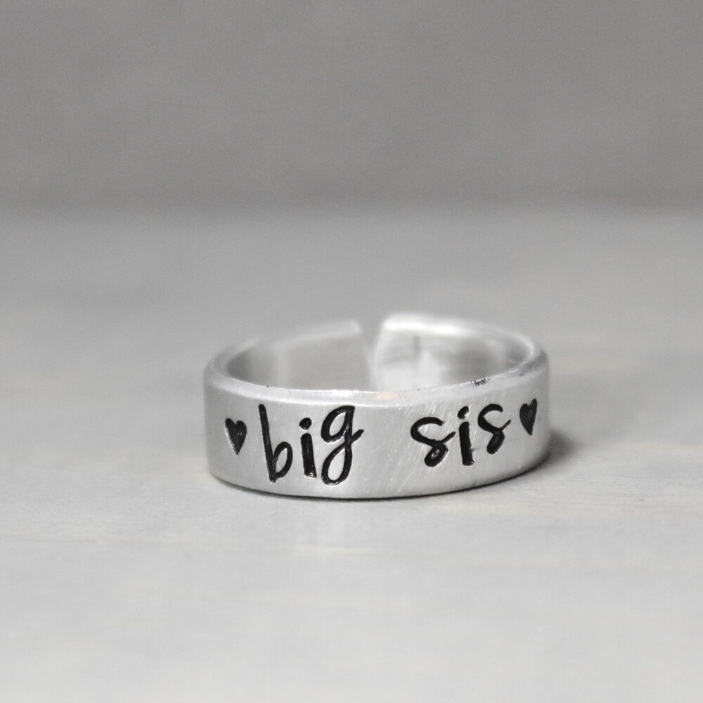 Big Sister Ring - Middle Jewelry Custom Rings Gift For