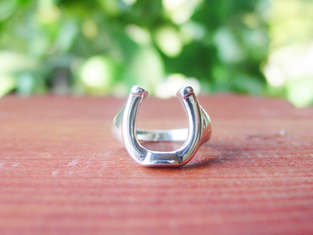 Horseshoe Ring Sterling Silver - Men's Equestrian