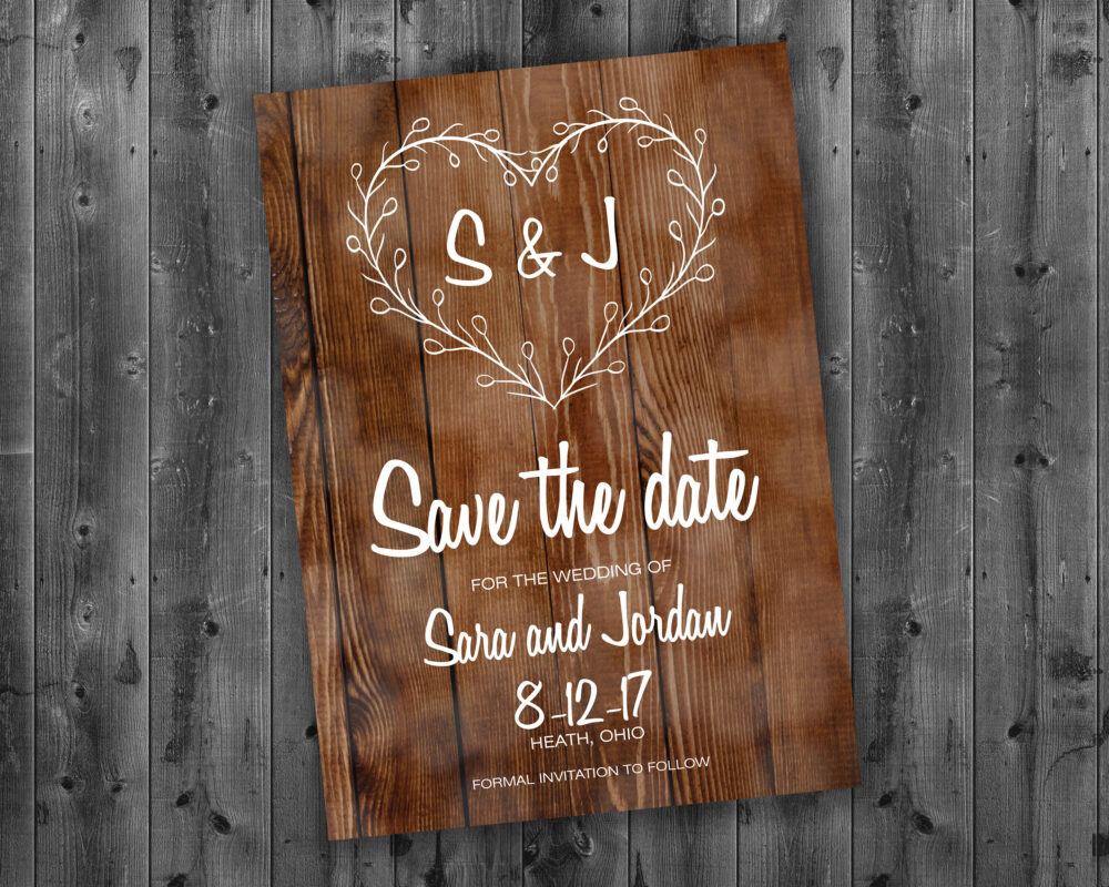 Rustic Country Save The Date Cards, Wedding The Date, Save-The-Date Postcard, Announcement, Barn Wood, Summer
