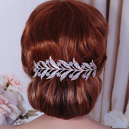 Rose Gold Or Silver Wedding Headpiece Bridal Hair Head Band Piece Accessory Weddings Headband Bride Tiara Crystal Party Accessories Jewelry