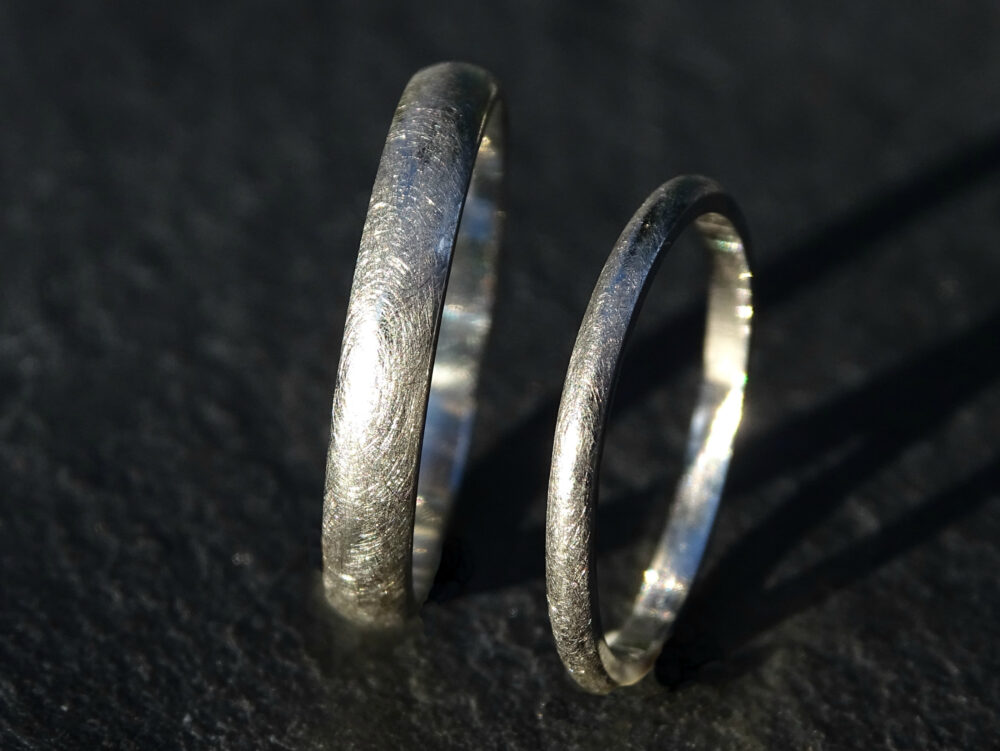 Platinum Wedding Bands, Ring Set, His & Hers Domed Rings, Mens Women, Anniversary Rings