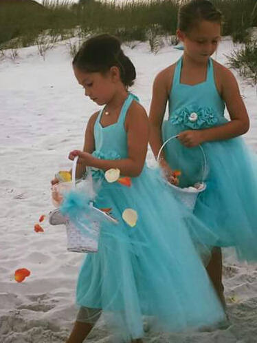 Beach Wedding Flower Girl Dress, Davids Bridal Spa Girls Tulle Tutu Dress.... Choose Your Colors