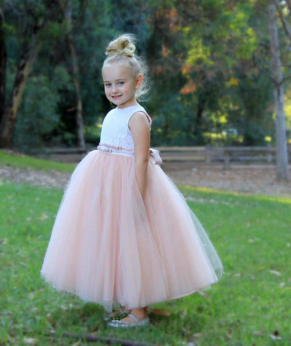 New Tutu Tulle Floral Lace Pageant Girl Dress Wedding Bridesmaid Communion Flower Girl Dress Toddler Handmade Special Occasion Holiday