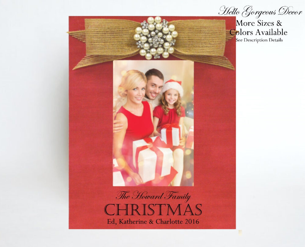 Christmas Picture Frame Gift To Newlyweds - Housewarming/Wedding Personalized Family Photo Decor